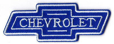 CHEVROLET CHEVY BLUE BOW TIE BADGE EMBLEM LOGO PATCH EMBROIDERED IRON ON trucks