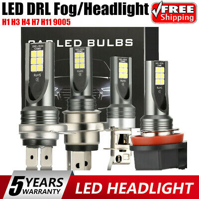 2X H1 H3 H4 H7 H11 9005 CSP Fog LED Headlight Bulb Kit 110W 20000LM 6000K White~
