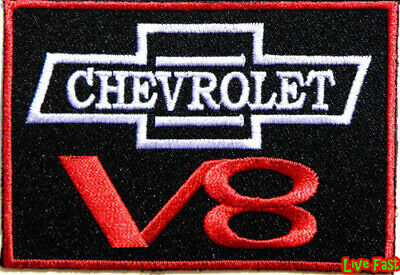 CHEVY V8 PATCH EMBROIDERED IRON ON vintage muscle car drag racing suit chevrolet