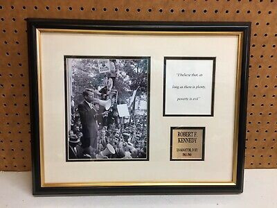 Framed Robert Kennedy Print - Poverty Quote