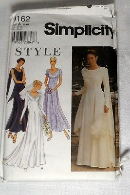 Vintage Sewing Pattern Simplicity 9162 Wedding Bridal Gown Dress Prom Uncut 8-18
