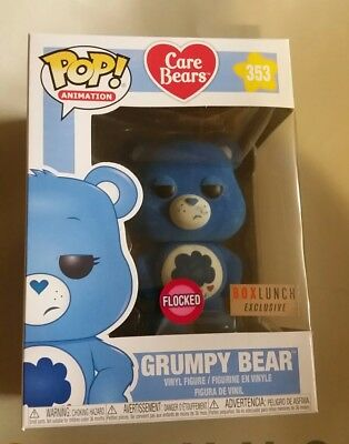 Funko Pop Flocked Grumpy Care Bear Box Lunch Exclusive