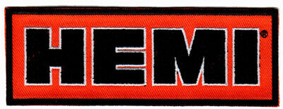 HEMI PATCH EMBROIDERED IRON ON retro hot rod muscle car drag racing jacket