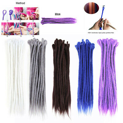 5Pcs 50CM Simple Culot Synthétique Cheveux Dreadlocks Extension Tresser Perruque