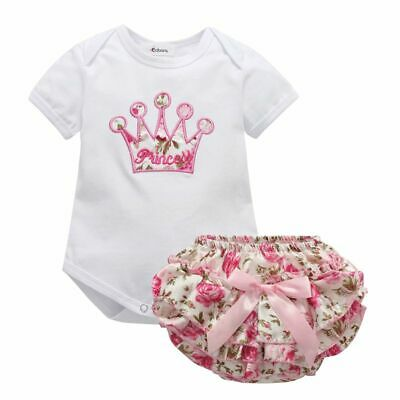 Summer Newborn Baby Girl Floral Clothes Jumpsuit Romper Bodysuit Pant Outfit Set