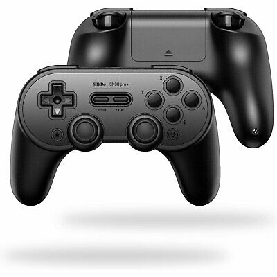 8BitDo SN30 Pro+ Wireless Controller (Black Edition) for Nintendo Switch NS