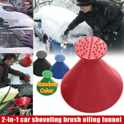 Car Windshield Magic Ice Scraper Tool Cone Shaped Outdoor Funnel Remover Snow tg