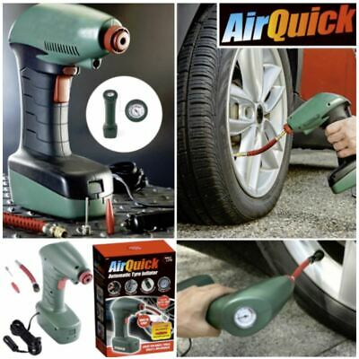 Air Quick Automatic Tyre Inflator Car Compressor Pump Bike 14FT Long Cable 12V N