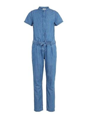 NAME IT Kinder Mädchen Jeans Jumpsuit Denim Overall Einteiler Bodysuit