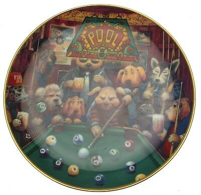 Franklin Mint Pool Hounds Bill Bell Plate CP921