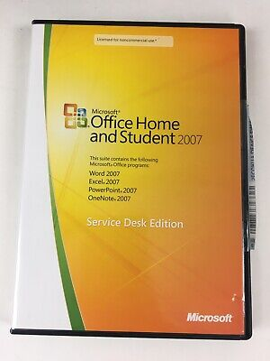 Microsoft Office Home and Student 2007 Service Desk Edition w Product Key Used