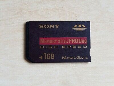 Official SONY High Speed Memory Stick Pro Duo 1GB Genuine Card 1.0 gb for PSP