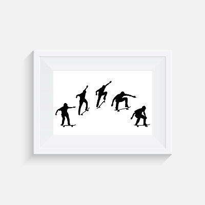 print wall art home poster picture gift Skateboard Blunt Fakie Greyscale