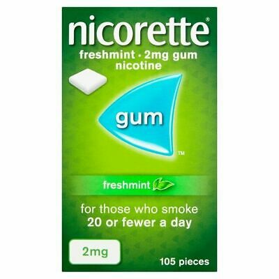Nicorette Gum Freshmint 2mg of 105 Pieces  6 Packs Expiry 03/ 2022