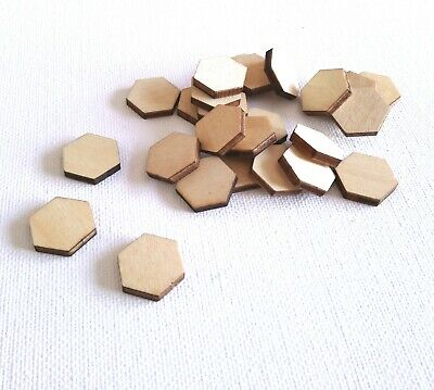 Hexagon Counters Wooden Tokens Upgrade for Board Games RPG Tabletop Currency