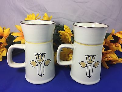 Denby Langley KIMBERLY Tall Coffee Cup/Mug Grand Mug England Set Of 2