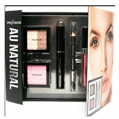 Natural Make Up Set Profusion Complete Kit Mascara Contour Eye Brow Lip Gift Box