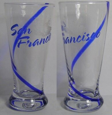 San Francisco Blue Swirl Shot Glass #4231