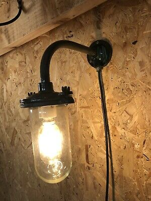 Vintage Walsall Swan Neck Light Outdoor Cast Iron Light Refurbished Revo Style