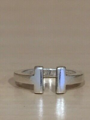 Tiffany T Square Ring 925 Silver Authentic 5.75