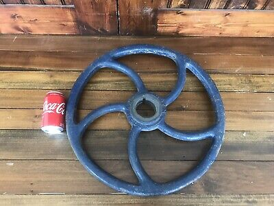 "VTG HUGE Valve Handle 20"" Steampunk  Refinery POWELL Wheel"
