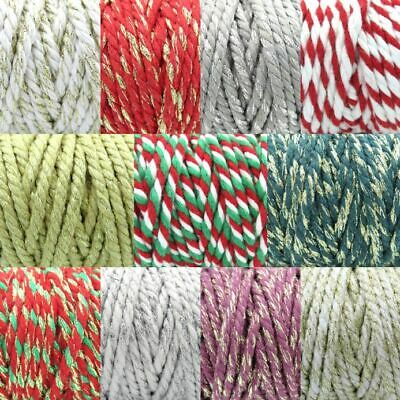 Thick Chunky Bakers Twine - 5mm COTTON ROPE - Christmas Craft Natural Christmas