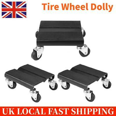 3Pcs Black Tire Car Dolly Repair Snowmobile Moving Dollies Set 1500lbs Capcity
