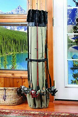 Lindy Protective Fishing Rod Control Tote Holds 4-6 Rods /& Reels Varying Length