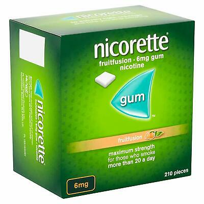 Nicorette Fruitfusion Gum 6mg - 2 Pack Of 210 ...FAST AND SAME day dispe 03/2021