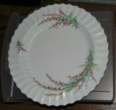"Royal Doulton Scalloped Bell Heather 12"" Serving Platter England"