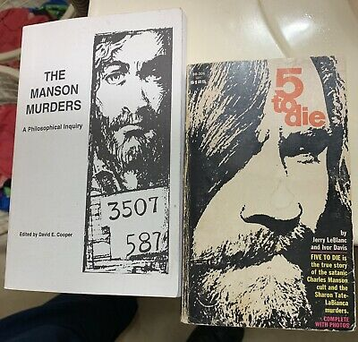 Charles Manson Books 5 Five To Die Lot Tarantino Once Upon A Time In Hollywood