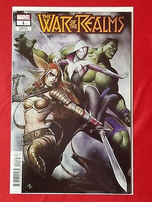 War Of The Realms #1 Adi Granov Variant  Spider-Gwen Hulk Angela Marvel Comics