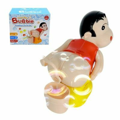 Funny bubble Machine Toy Automatic Water Fart Blowing Blower Stick Kids Child