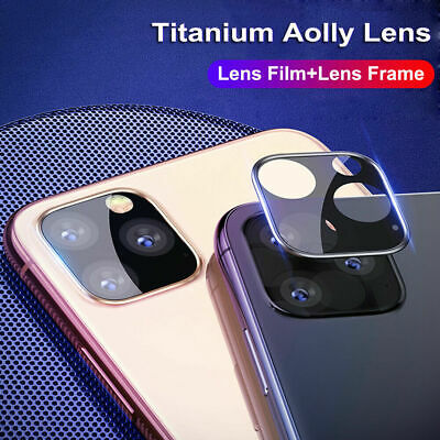 For iPhone 11 Pro Max 3PCS Titanium Alloy Tempered Glass Camera Lens Protector