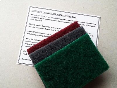 Cheapest 3 X Large Refinishing Pads Watch Stainless Steel Scratch Repair Removal