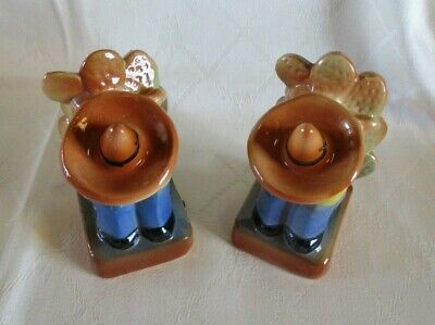 Vintage Albaware Pottery Sleeping Mexican Ceramic Bookends Australian Pottery