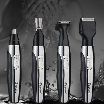 4in1 Men Electric Hair Clipper Rechargeable Nose Trimmer Beard Body Razor Shaver