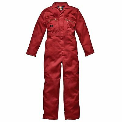 Dickies Redhawk Zip Front Coverall Tall Length Red Size 44