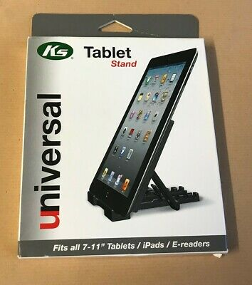 """KS Universal Multi-Angle Stand Holder for iPad E-reader Tablet 7"""" to 11"""" - Black"""