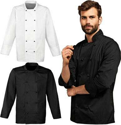 Adults Plain Cuisine Chefs Jacket Unisex Work Wear Cooking Kitchen Catering Coat