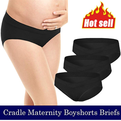 3PCS Pregnancy Maternity Panties Mom Pregnant Women Low-waist Brief Underwear BK