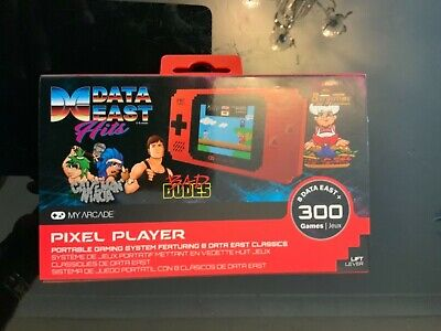 MY ARCADE Pixel Player Portable Handheld 300 Built-in Video Games+Data East Hits