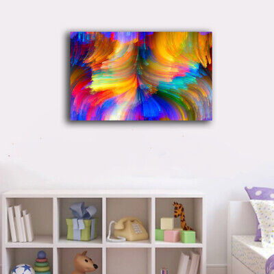 Framed Canvas Prints Stretched Colorido Abstract Paint Wall Art Home Decor Gift
