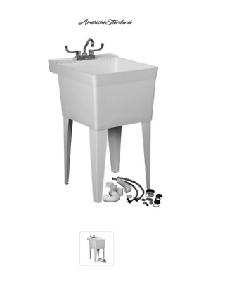 American Standard Fiat 20 Free Standing Polyethylene Utility Sink with Faucet, P