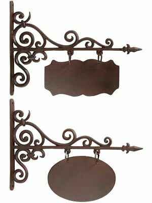 Sign Oval or Rectangular Cast Iron Outdoor - Available in two Measures