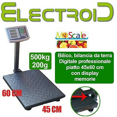 Bilancia Da Terra Bilico Industriale Digitale Professionale 500Kg Display Lcd