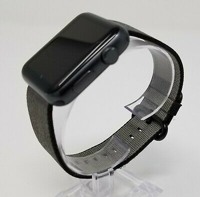 Genuine Black Apple Watch Woven Nylon Band - 38MM - Authentic OEM