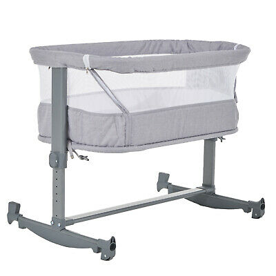 FYLO BedSide Rocking Crib - Grey