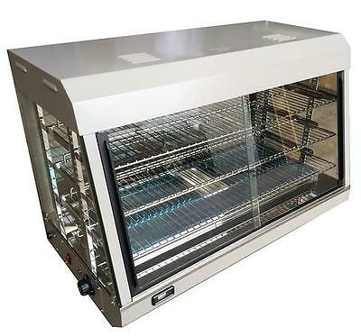 Electric Heated Countertop Display Cabinet Food Warmer Glass Holding Pie Case