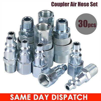 10pc Heavy Duty Quick Coupler Set Air Hose Connector Fittings 1//4 NPT Tools Plug